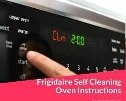 Frigidaire Self Cleaning Oven Instructions