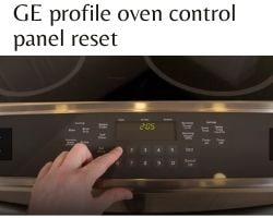 Ge Profile Oven Control Panel Reset