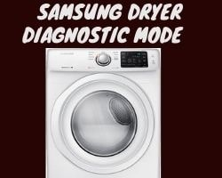 Samsung Dryer Diagnostic Mode