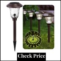 Solar Lights Glass Stainless Steel Waterproof Auto On:off