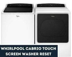 Whirlpool Cabrio Touch Screen Washer Reset