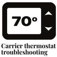 carrier thermostat troubleshooting