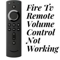 fire tv remote volume control not working